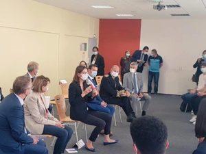 Visite de la Ministre Amélie de Montchalin au lycée de Fameck